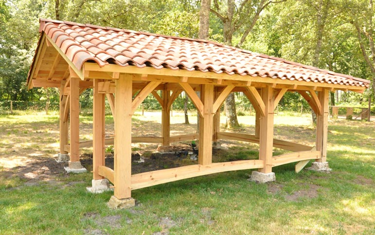 Abris de jardin 20 m2 charpente teixeira for Abri de jardin ouvert